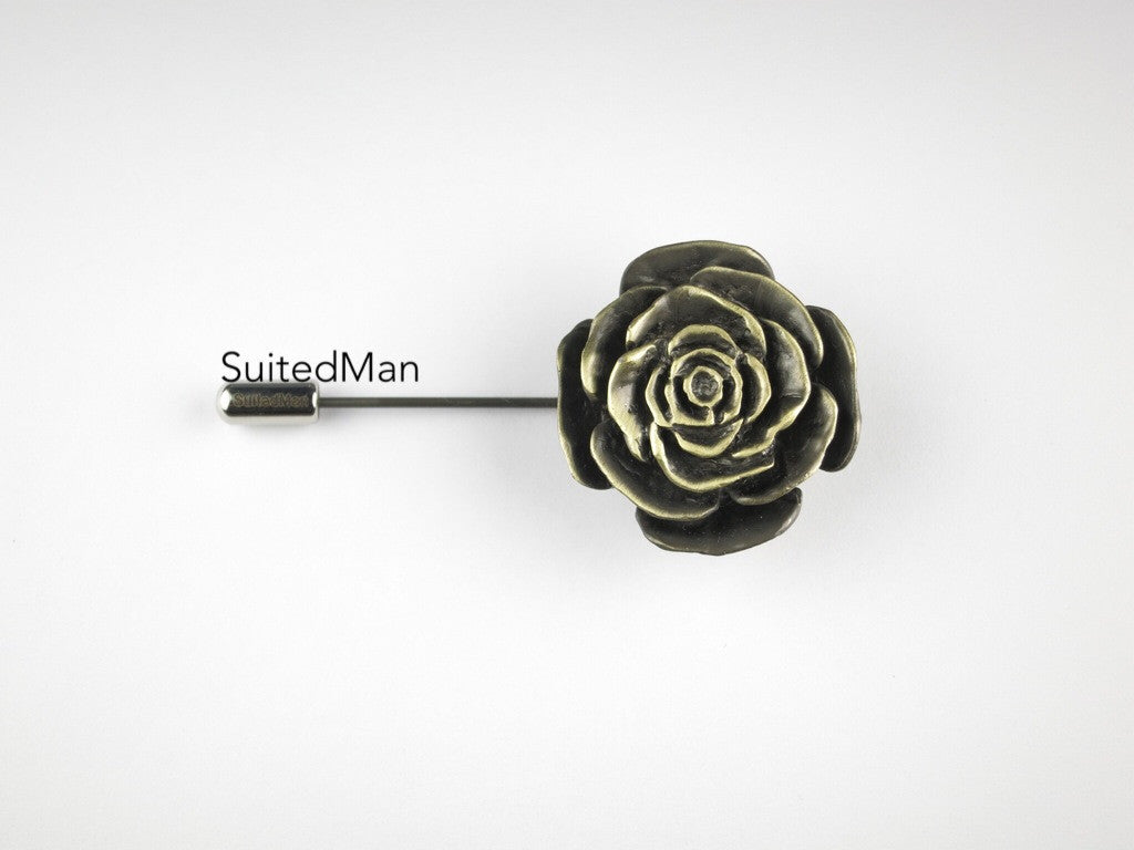 The Metal Rose, Antique Pewter - SuitedMan