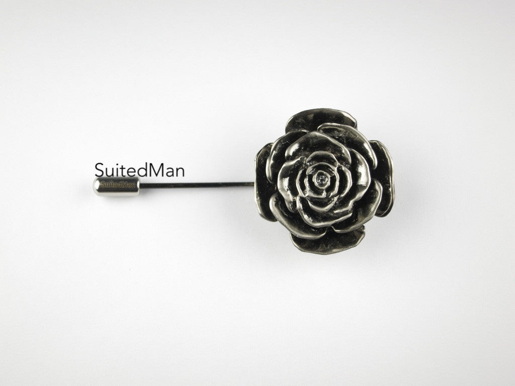 The Metal Rose, Silver - SuitedMan