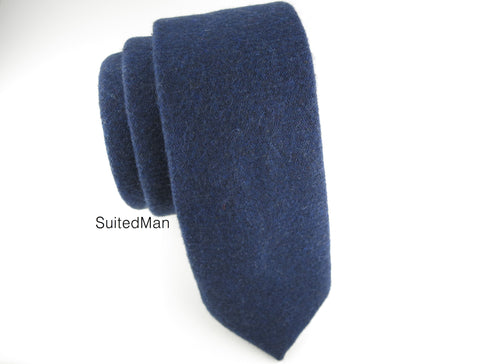 Tie, Wool, Navy - SuitedMan