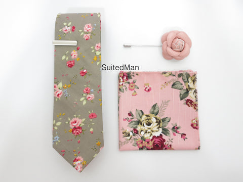 The Pink Floral Bloom Set - SuitedMan
