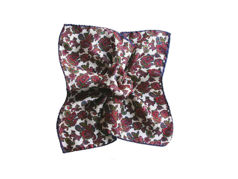 Pocket Square, Purple Paisley - SuitedMan