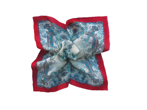 Pocket Square, Blue/Red D'Italia