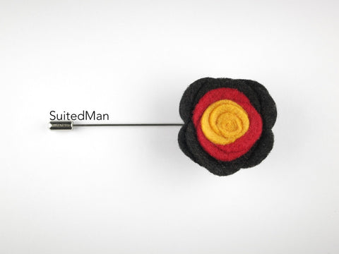 Pin Lapel Flower, Felt, Colorblock, Germany - SuitedMan