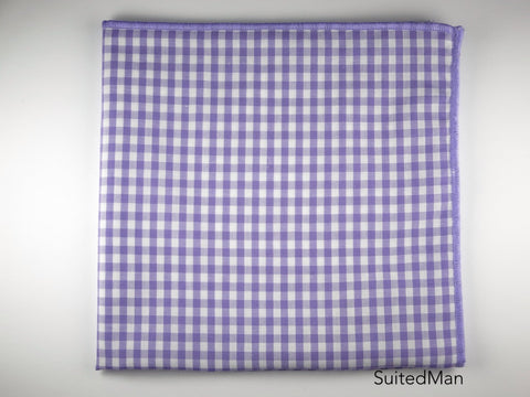 Pocket Square, Gingham Small, Lavender