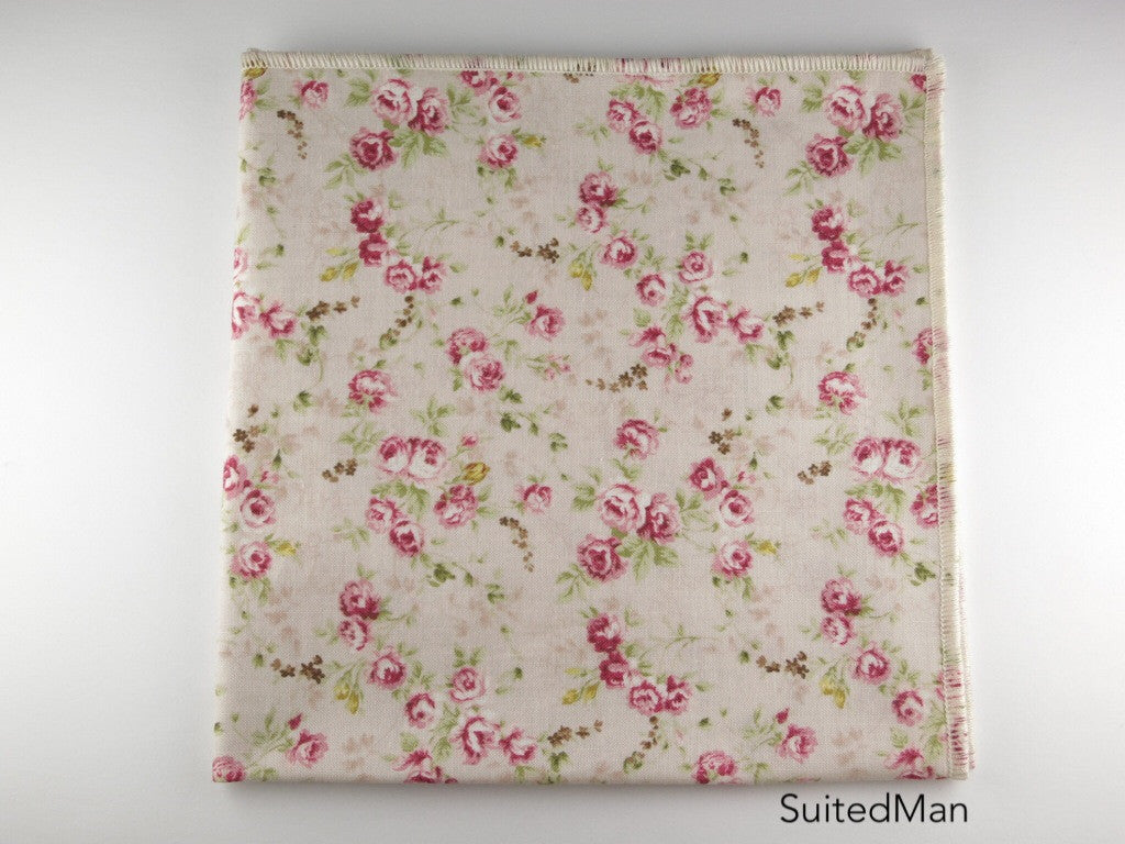 Pocket Square, Petite Rose - SuitedMan