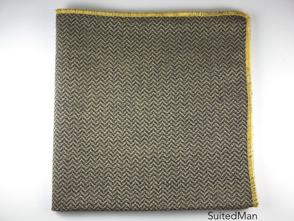 Pocket Square, Chevron, Gold - SuitedMan