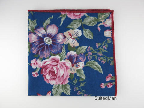 Pocket Square, Peacock Floral