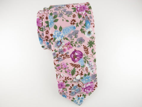 Floral Tie, Pink Blossom