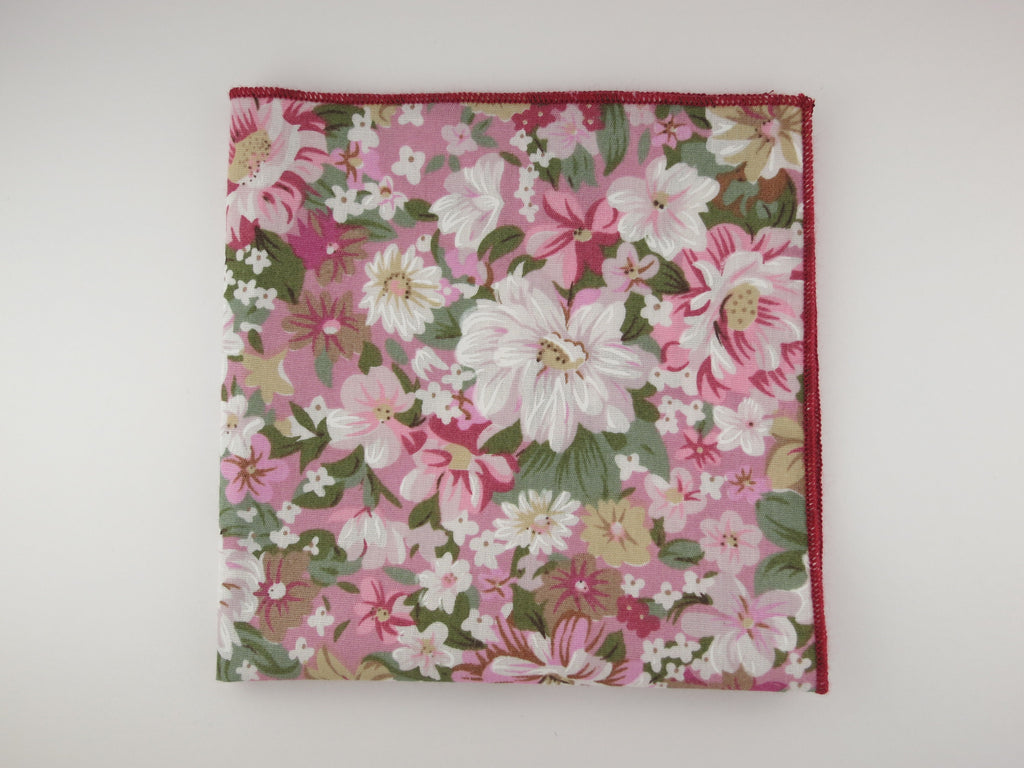 Pocket Square, Pink Blossom - SuitedMan