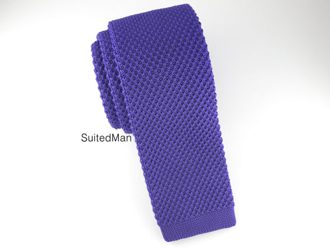 Knit Tie, Purple