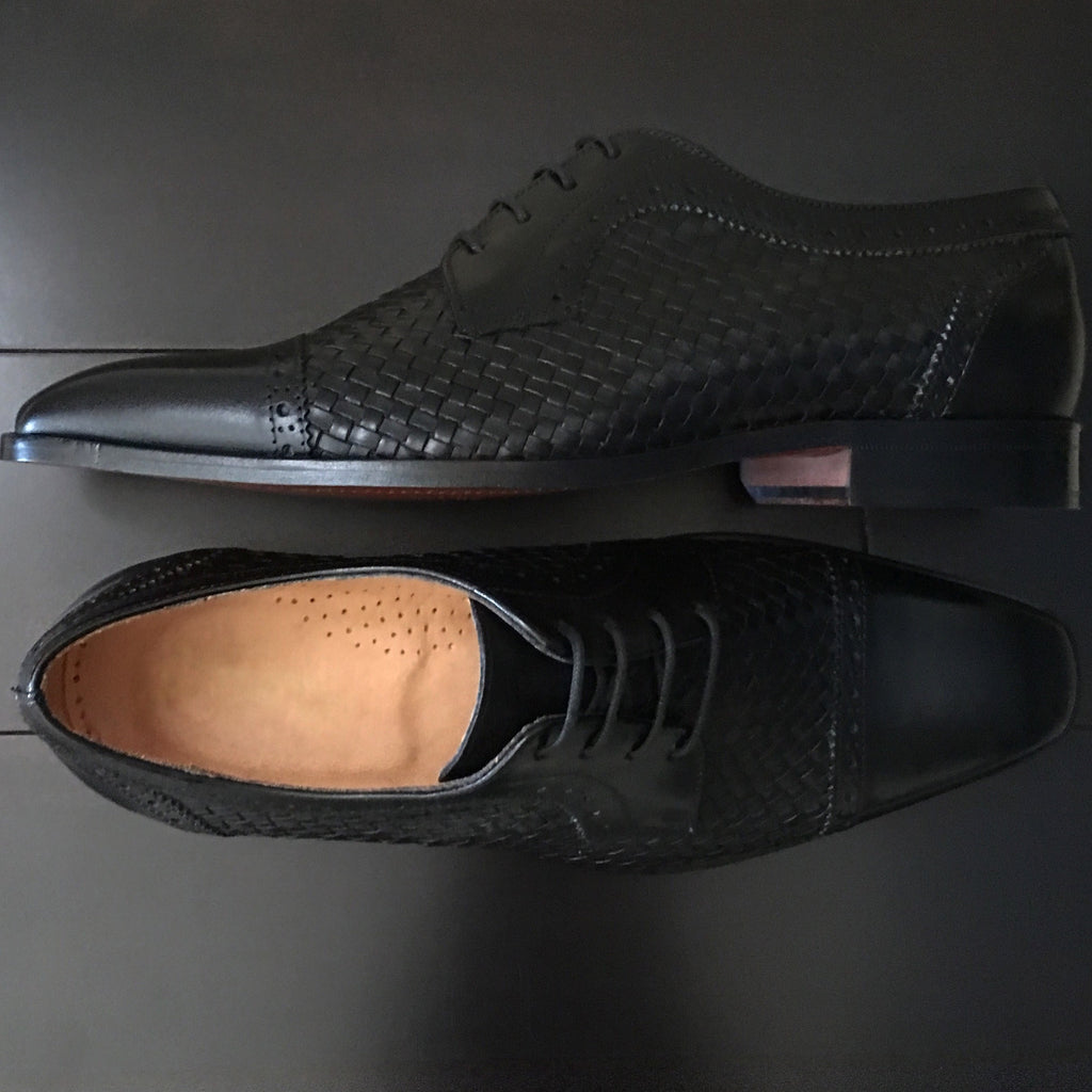Shoes, Black Woven (Limited) - SuitedMan