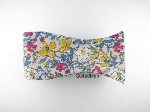Floral Bow Tie, Antique Petite Rose Bloom