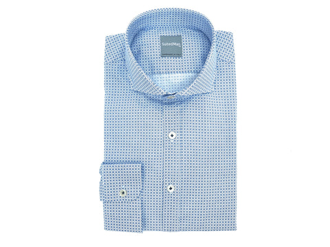 SuitedMan D'Italia, Shirt, Blue Double Dots - SuitedMan