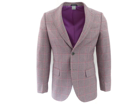 SuitedMan D'Italia Jacket, Houndstooth Coigach, Pink/Lilac