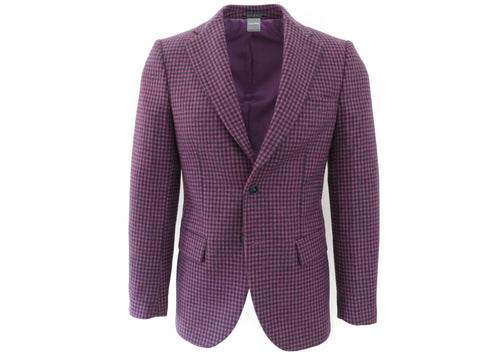 SuitedMan D'Italia Jacket, Mini Check, Purple - SuitedMan