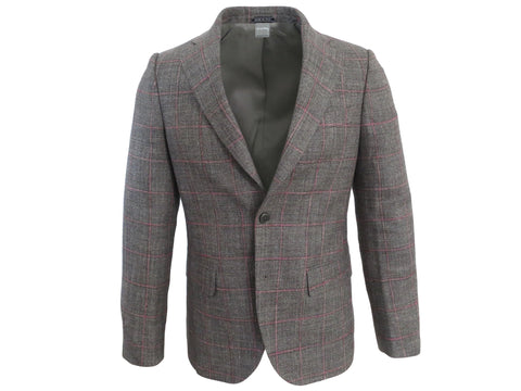 SuitedMan D'Italia Jacket, Windowpane, Gray/Pink