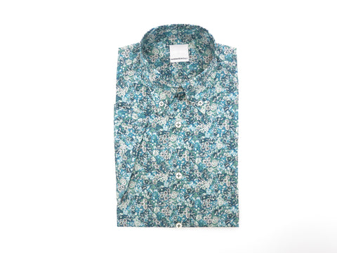 SuitedMan D'Italia, Liberty of London, Emerald Mille Fleurs, Short Sleeve - SuitedMan