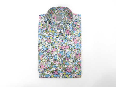 SuitedMan D'Italia, Liberty of London, Fleurs Pink/Sky, Short Sleeve