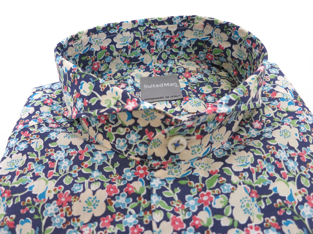 SuitedMan D'Italia, Liberty of London, Fleurs Blue/Green - SuitedMan