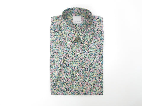 SuitedMan D'Italia, Liberty of London, Peach Mille Fleurs, Short Sleeve - SuitedMan