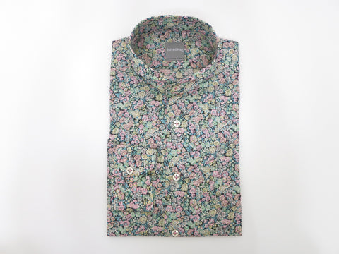 SuitedMan D'Italia, Liberty of London, Peach Mille Fleurs, Cutaway Collar