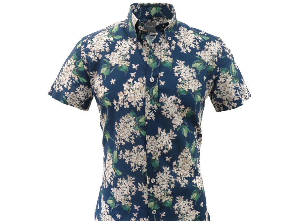SuitedMan D'Italia, Liberty of London, Midnight Floral, Short Sleeve - SuitedMan