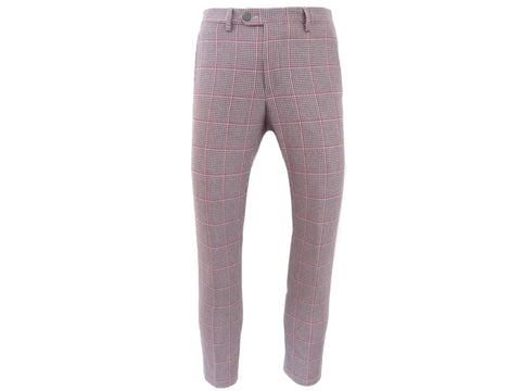 SuitedMan D'Italia Trousers, Houndstooth Coigach, Pink/Lilac - SuitedMan