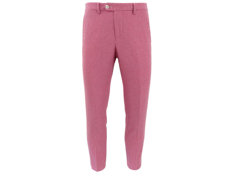 SuitedMan D'Italia Trousers, Puppytooth, Pink