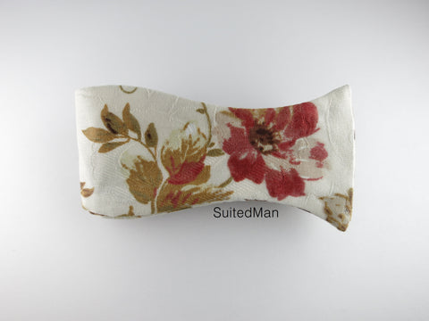 Floral Bow Tie, Autumn Scroll