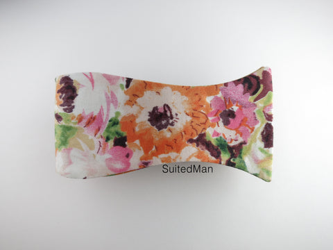 Floral Bow Tie, Autumn Watercolor