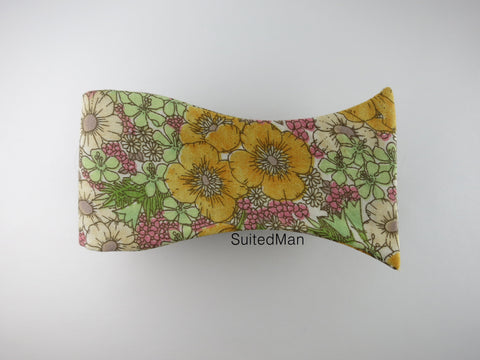 Floral Bow Tie, Golden Poppy
