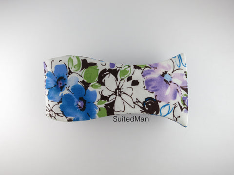 Floral Bow Tie, Lavender Watercolor - SuitedMan