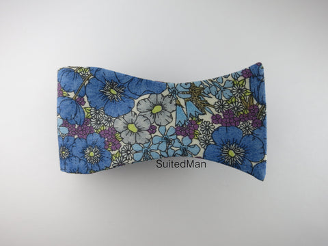 Floral Bow Tie, Peacock Poppy - SuitedMan