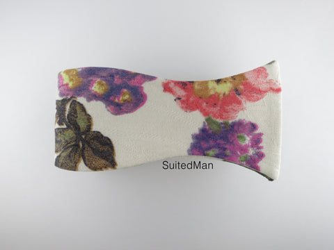 Floral Bow Tie, Vivid Bloom - SuitedMan
