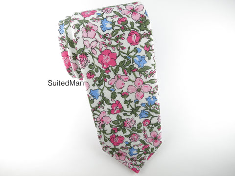 Floral Tie, Antique Petite Bloom - SuitedMan