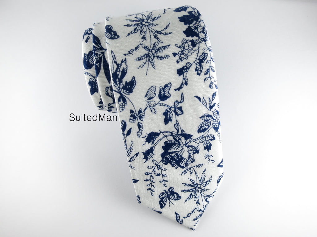 Floral Tie, Midnight Rose - SuitedMan