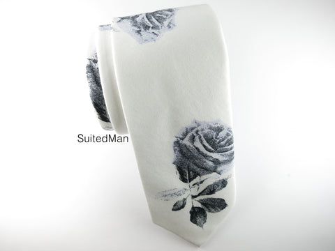 Floral Tie, Smoke Rose - SuitedMan