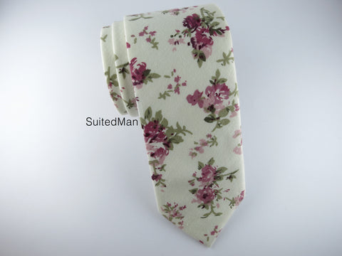Floral Tie, Vintage English Rose - SuitedMan