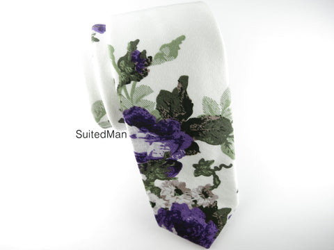 Floral Tie, Violet Bloom - SuitedMan
