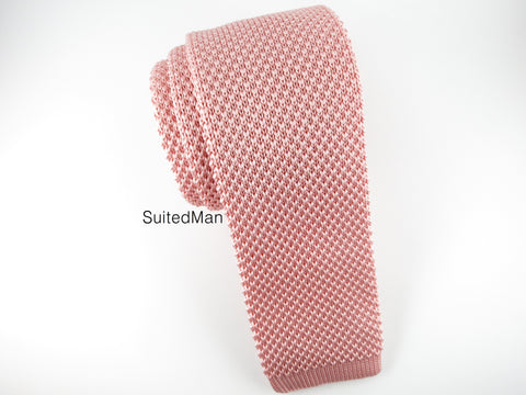 Knit Tie, Blush - SuitedMan