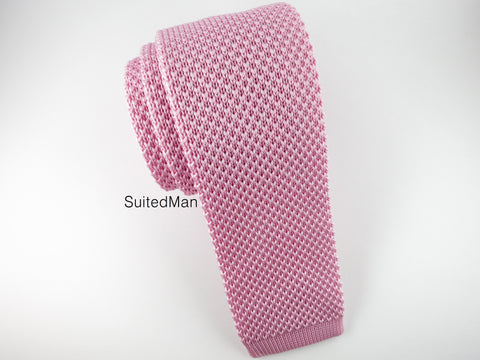 Knit Tie, English Rose - SuitedMan