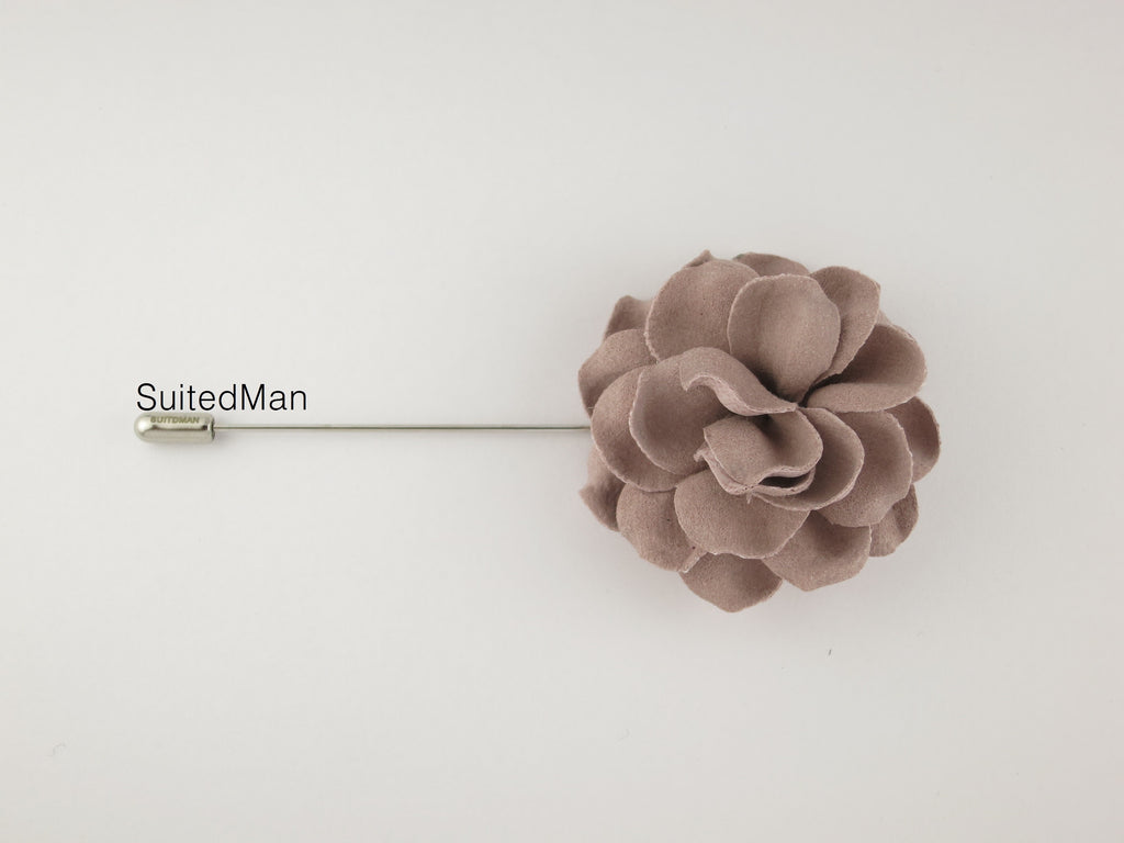 Lapel Flower, Gardenia, Dusty Pink - SuitedMan