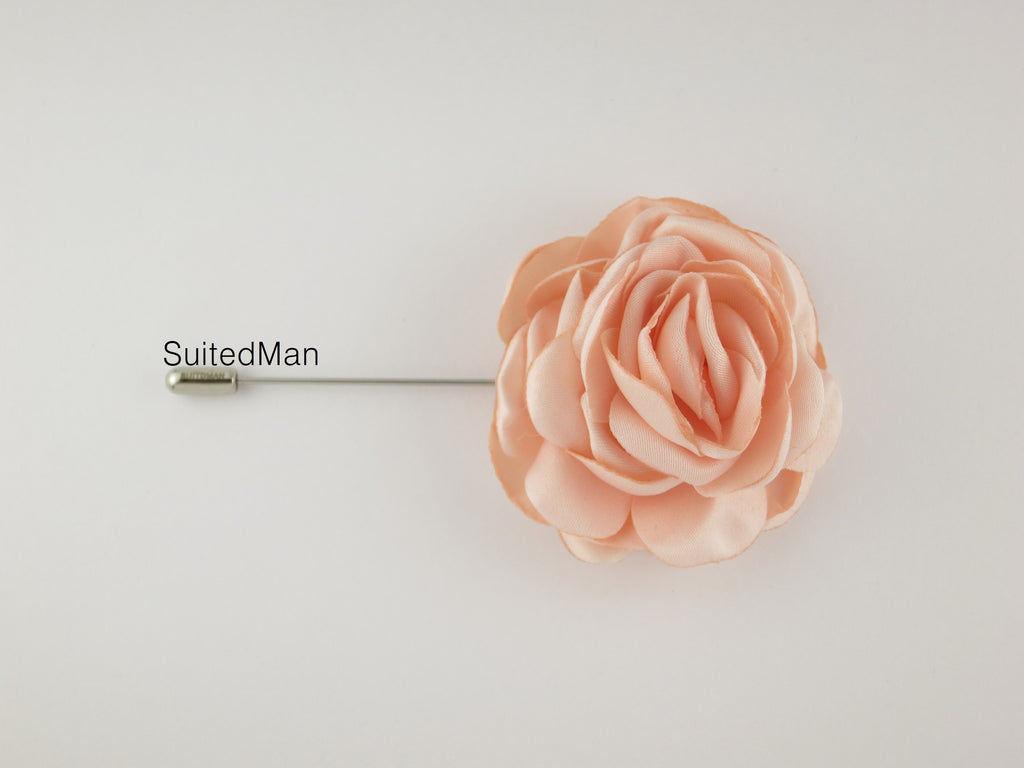 Lapel Flower, Peonies, Blush - SuitedMan