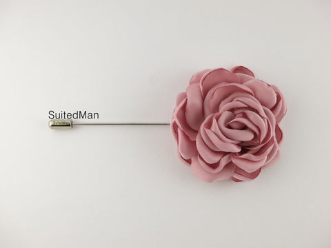 Lapel Flower, Peonies, Dusty Pink - SuitedMan