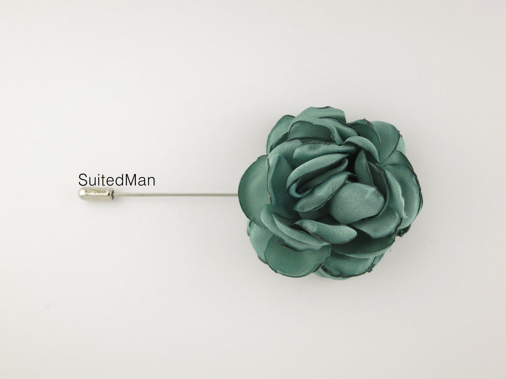 Lapel Flower, Peonies, Mint - SuitedMan