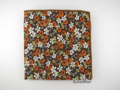Pocket Square, Autumn Daisy - SuitedMan