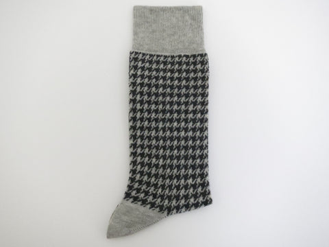 Socks, Houndstooth, Gray - SuitedMan