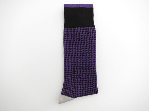 Socks, Puppytooth, Purple - SuitedMan