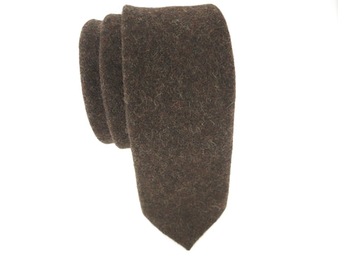 Tie, Wool, Chocolate