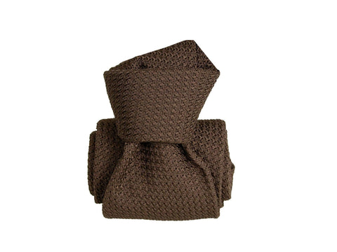 SuitedMan D'Italia Grenadine Tie, Brown - SuitedMan